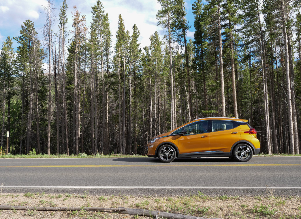 The Bolt in Orange Burst is a sharp-looking vehicle.      Barry Staver