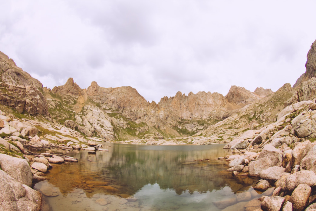 The cold alpine waters of Twin Lakes.