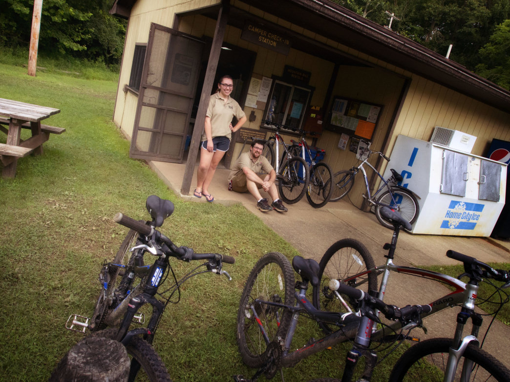 North Bend State Park is a popular spot for camping or for taking a break along the North Bend Rail Trail.