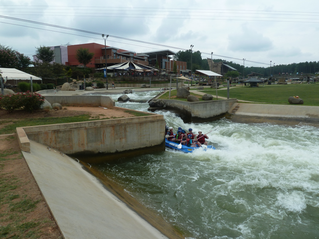 Adventure rafting is just one of many activities at the USNWC.