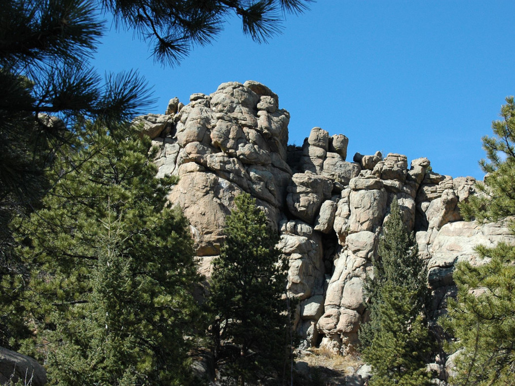 The Three Sisters rock formation at Alderfer/Three Sisters Park.