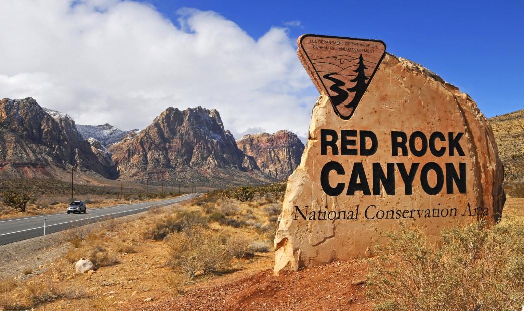 The entryway to Red Rock Canyon, Nevada's first National Conservation Area.