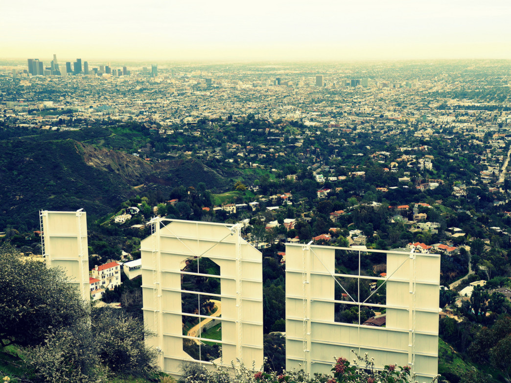 Hiking above the Hollywood sign