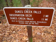 Image for Dukes Creek Falls Trail