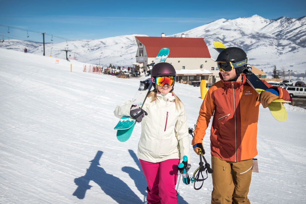 Nordic Valley features a magic carpet lift to make life easy for first-timers.