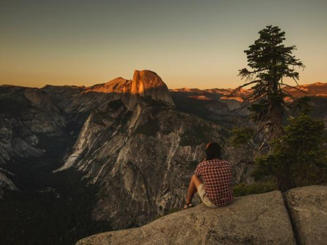 Soaking it all in at Glacier Point- Yosemite National Park