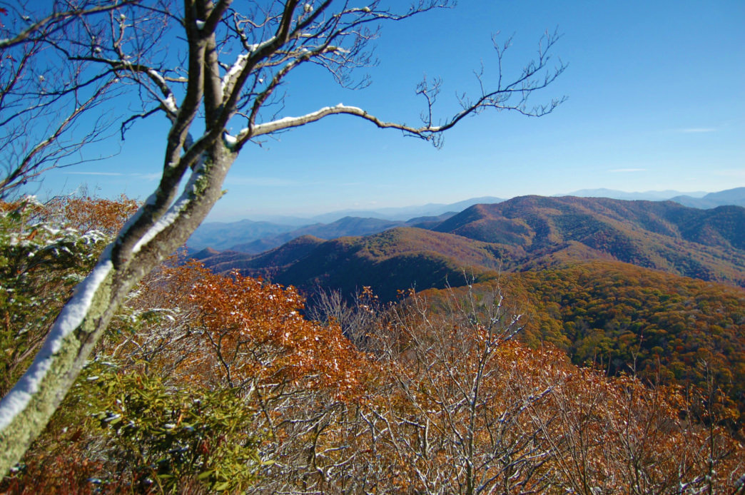 From Buzzard Rock in Cherokee National Forest, you can get a great view of Rocky Fork State Park.