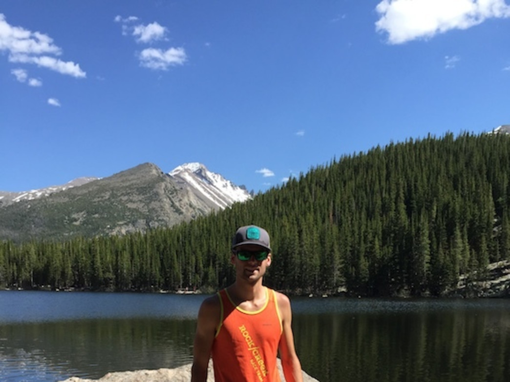 Enjoying a nice run in Rocky Mountain National Park