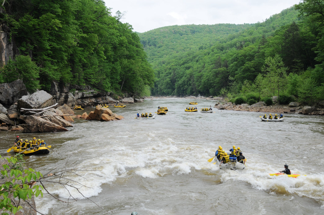 The Cheat River has something for both beginner and expert paddlers.
