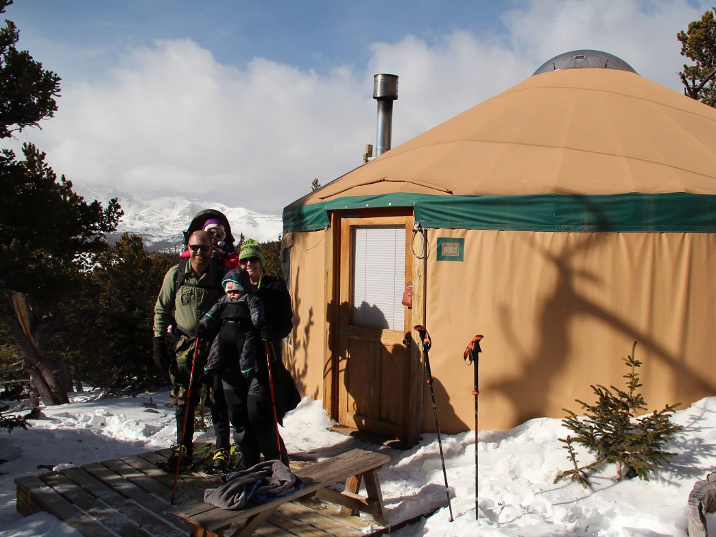 With its mellow approach, the James Peak Yurt is a great choice for families