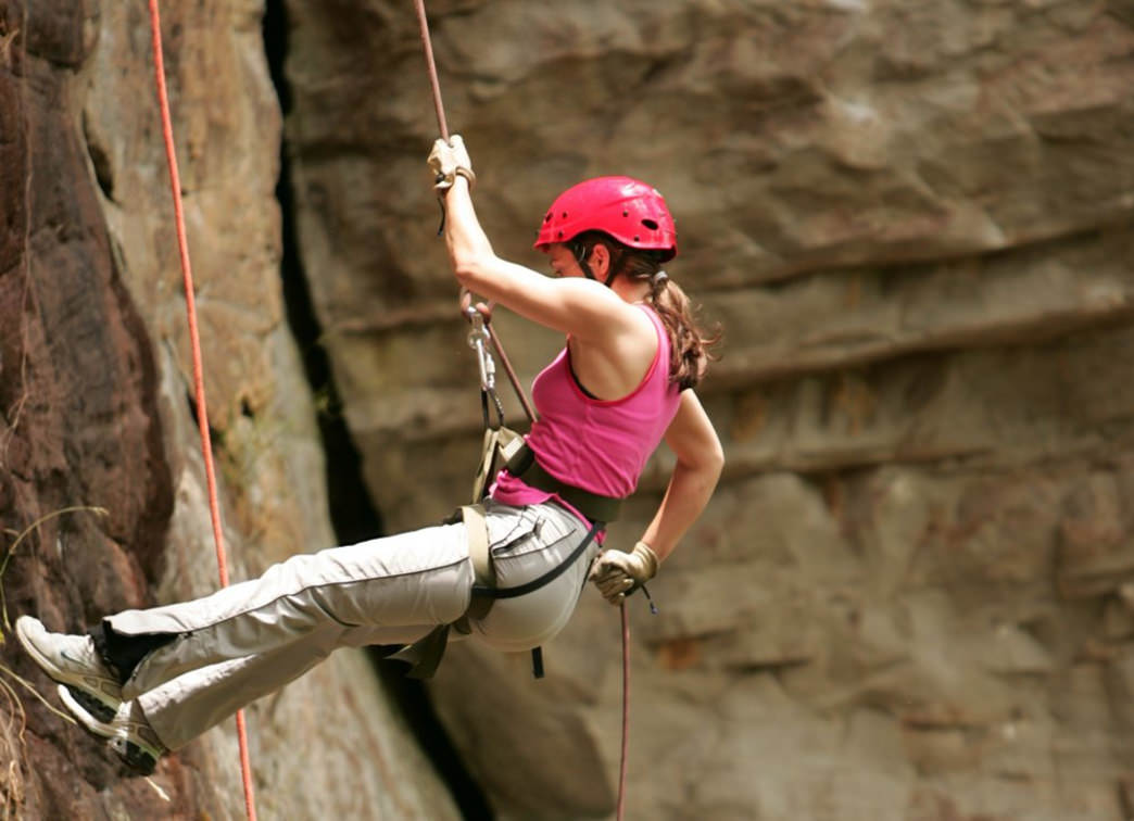 Rappelling is an adrenaline-pumping, but totally doable, first-date activity.