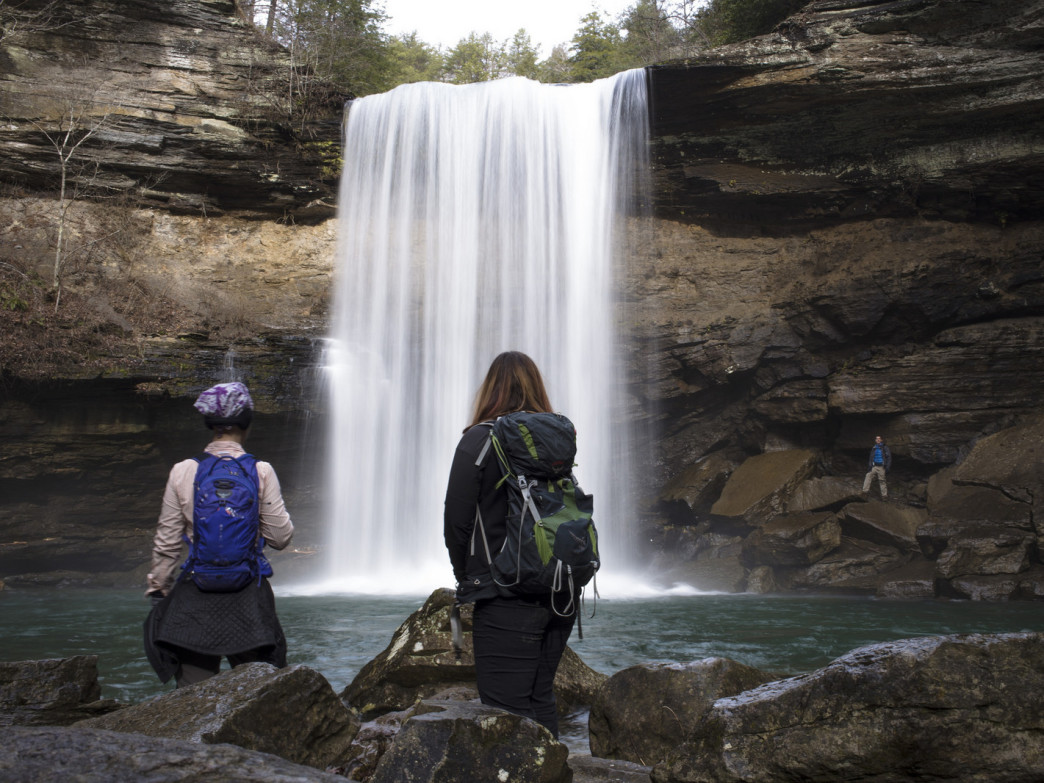 Greeter Falls is one of three waterfalls on this short Savage Gulf loop hike.