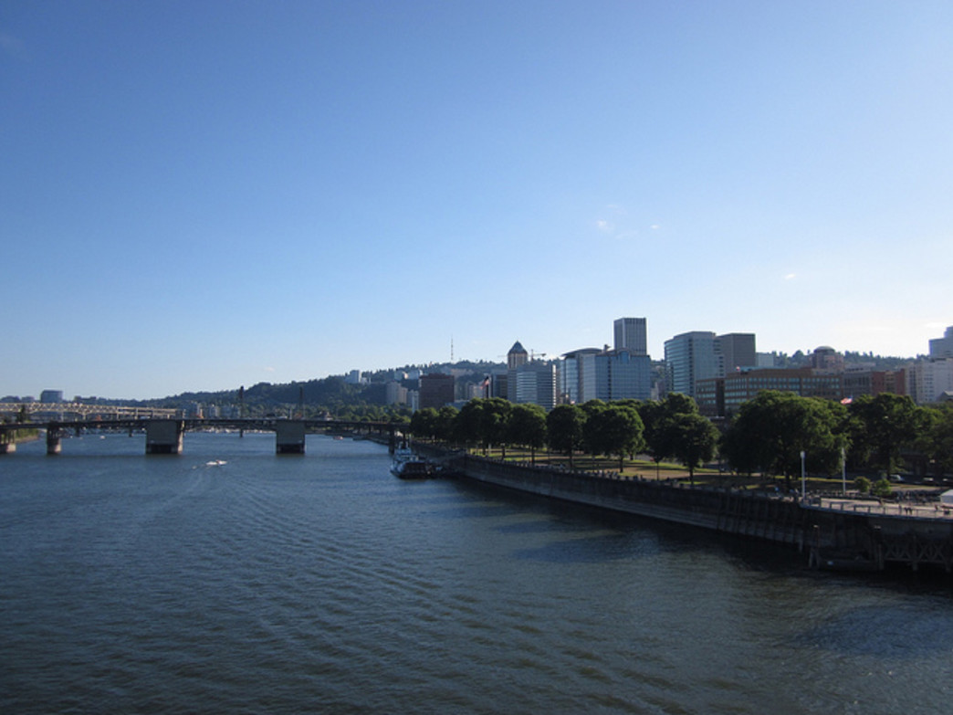 Tom McCall Waterfront Park brings a touch of the outdoors to downtown Portland.