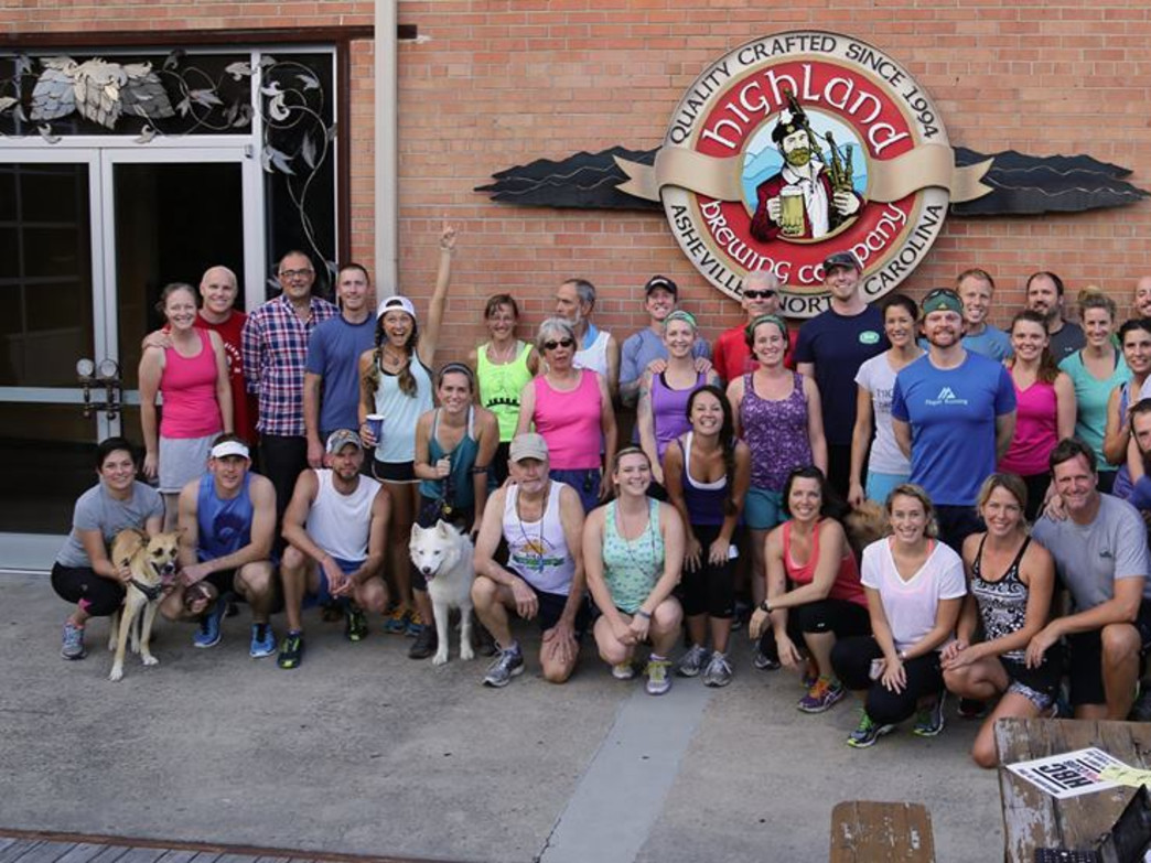 Highland Brewery's Run Club.