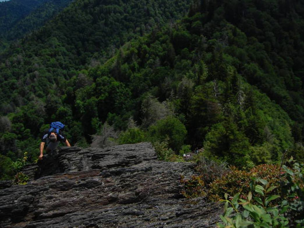 The last push to the summit of Chimney Tops is not for the faint of heart.