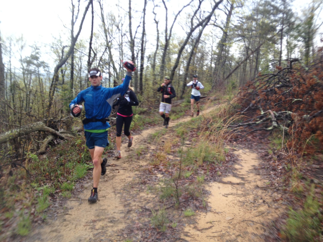 John training for Chattanooga's Thunder Rock 100