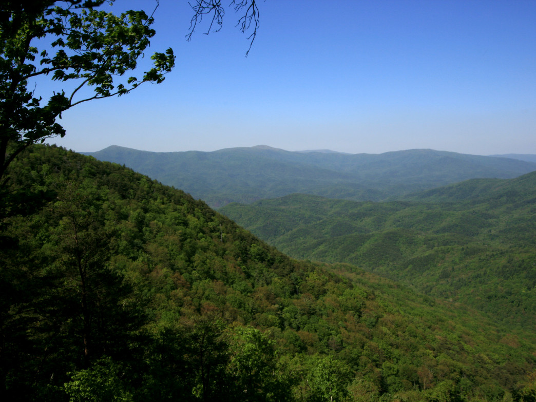 Cool Springs Overlook in Fort Mountain State Park.