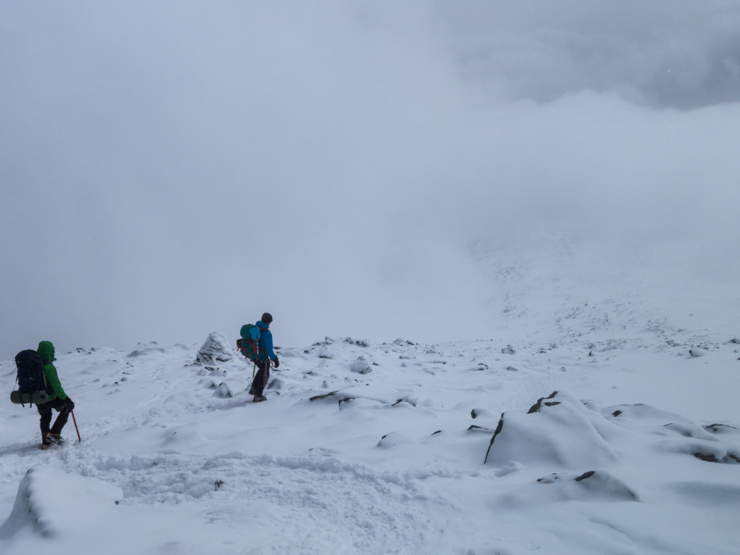 A mountaineering training expedition on Mount Washington.