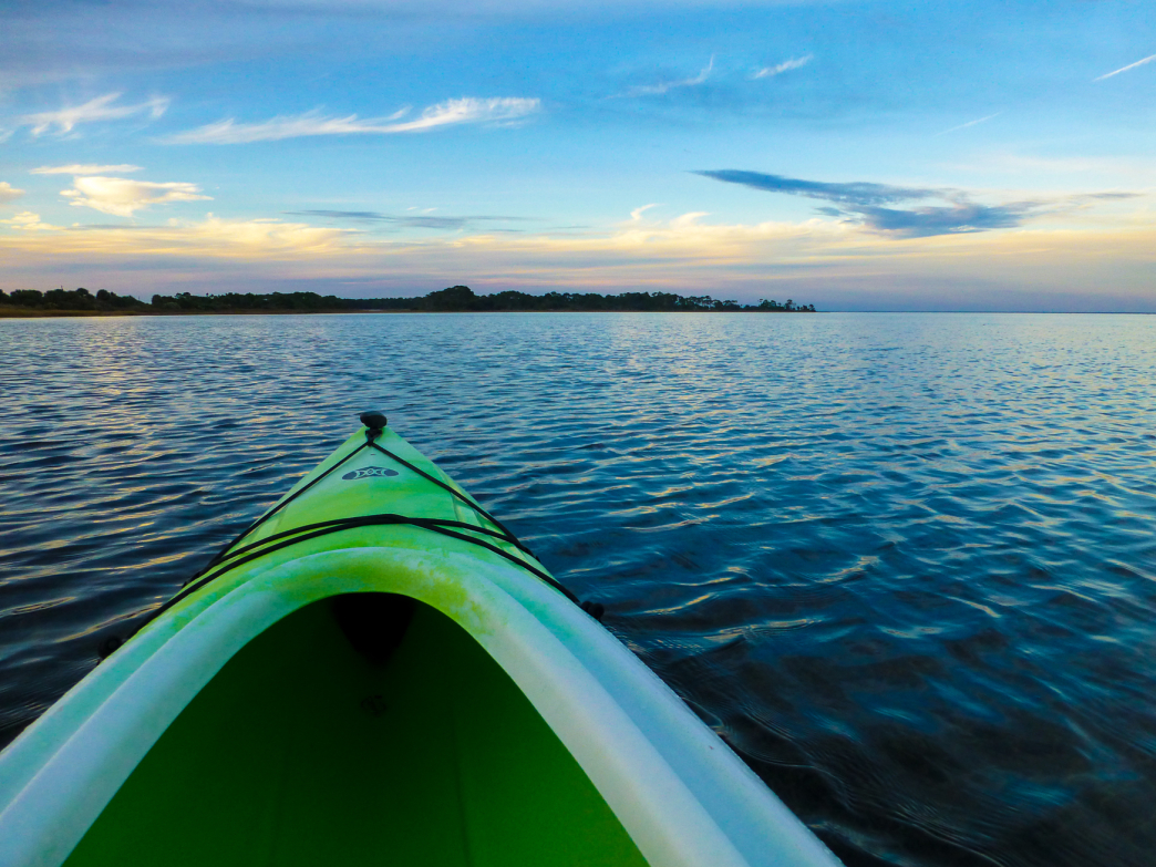 Kayaking in the Saint Joseph Bay