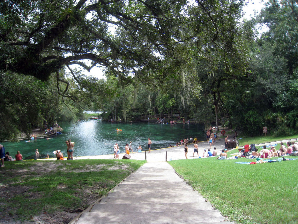 Wekiwa Springs State Park features water that remains a cool 72 degrees throughout the year and also boasts 13 miles of hiking trails.