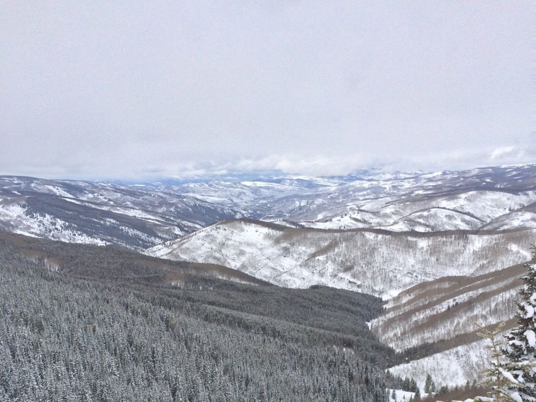 The Minturn Mile drops down from Vail into the Game Creek drainage.