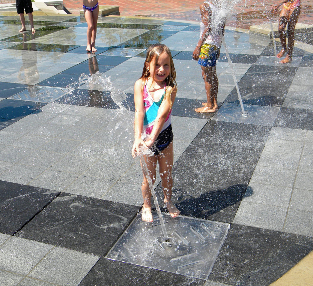 Splashville is a great way to beat the heat in downtown Asheville.