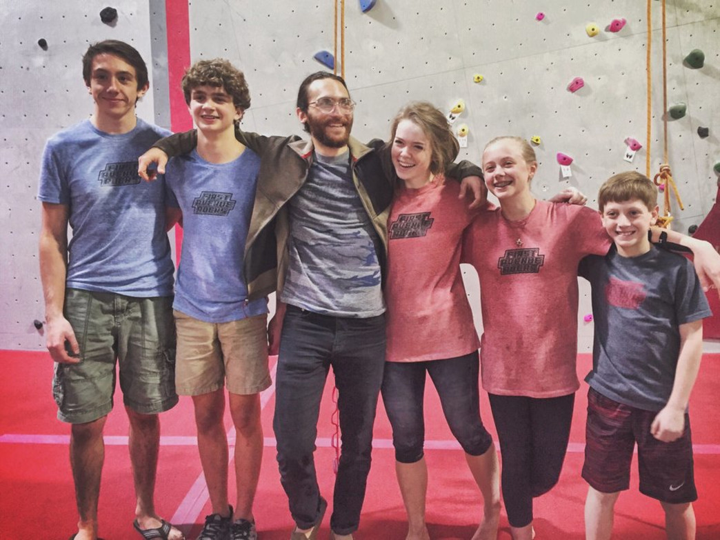 Rosato coaches the next generation of climbers in Birmingham, Alabama. —
