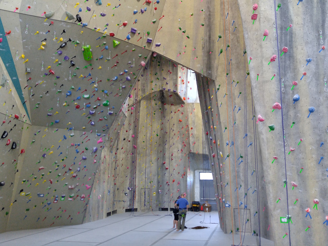 One of the climbing areas at Evo.