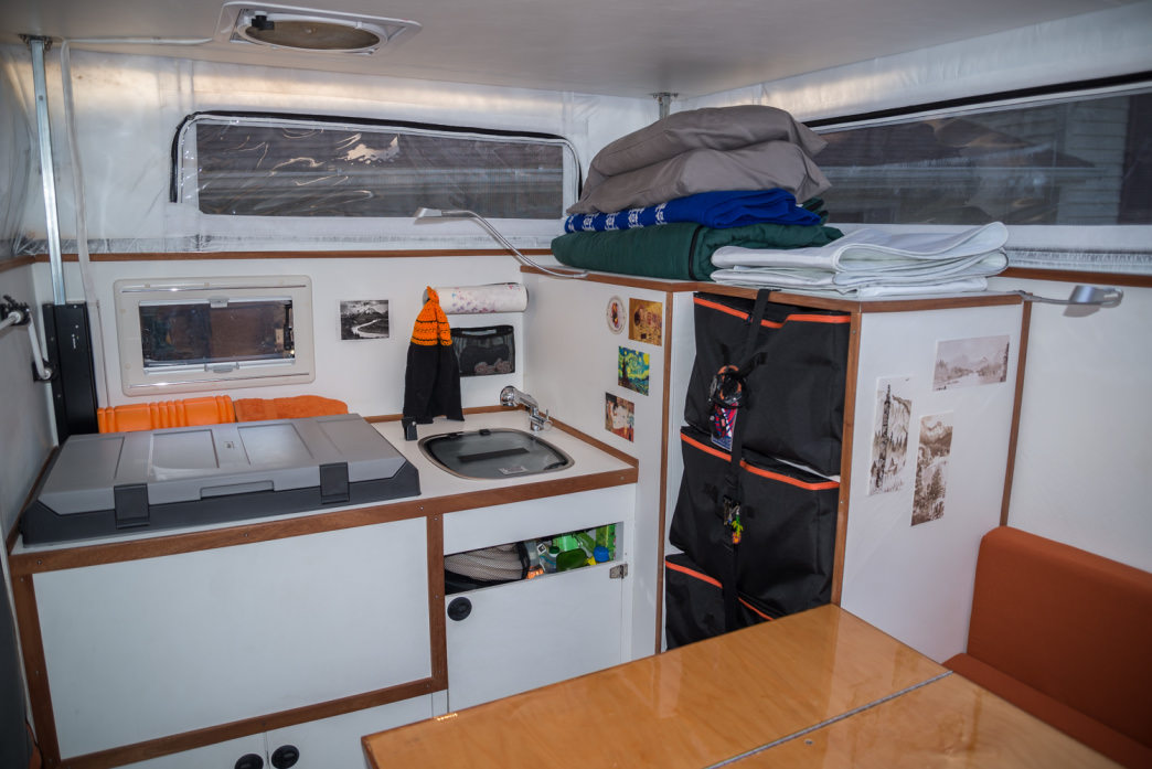 With some ingenuity, you can have everything you need to be comfortable in your camper van. Bryon Dorr