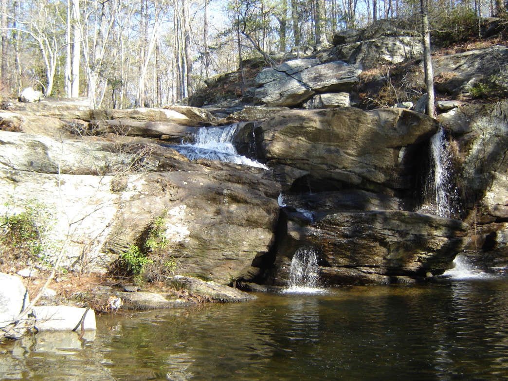 Cool off at Cheaha Falls after a long hike along Chinnabee Silent Trail