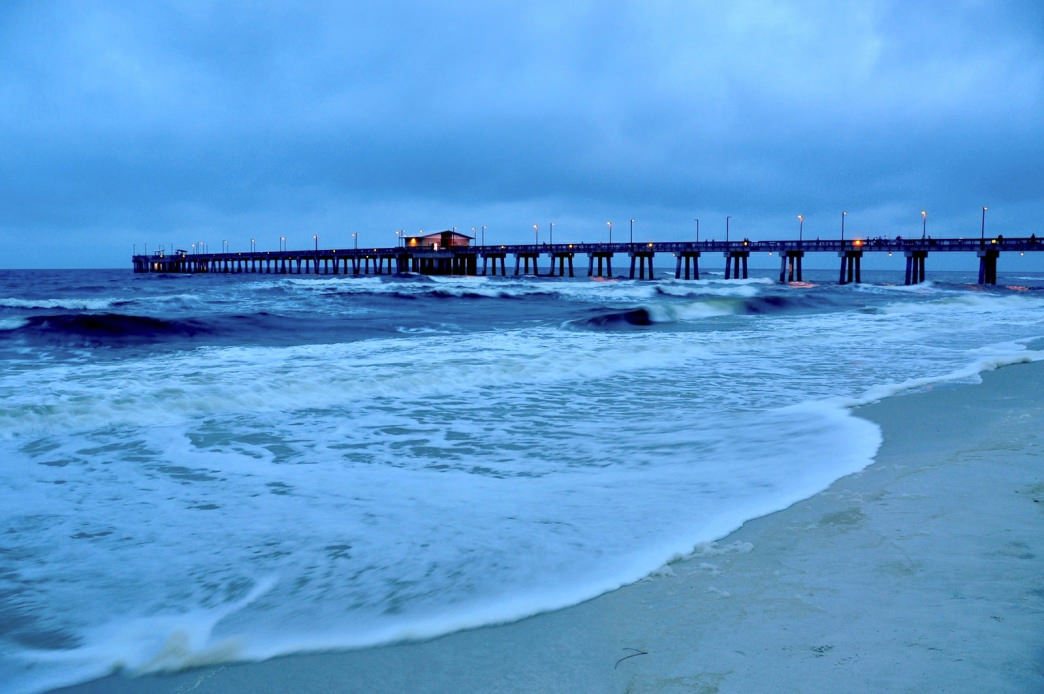 The 1,540-foot Gulf State Park Fishing Pier is a popular spot for anglers.