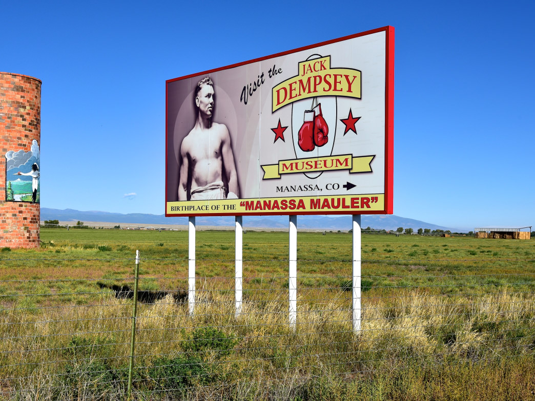 Jack Dempsey is one of the San Luis Valley's most famous hometown heroes, and there's a museum and park in his honor in his birthplace, Manassa.