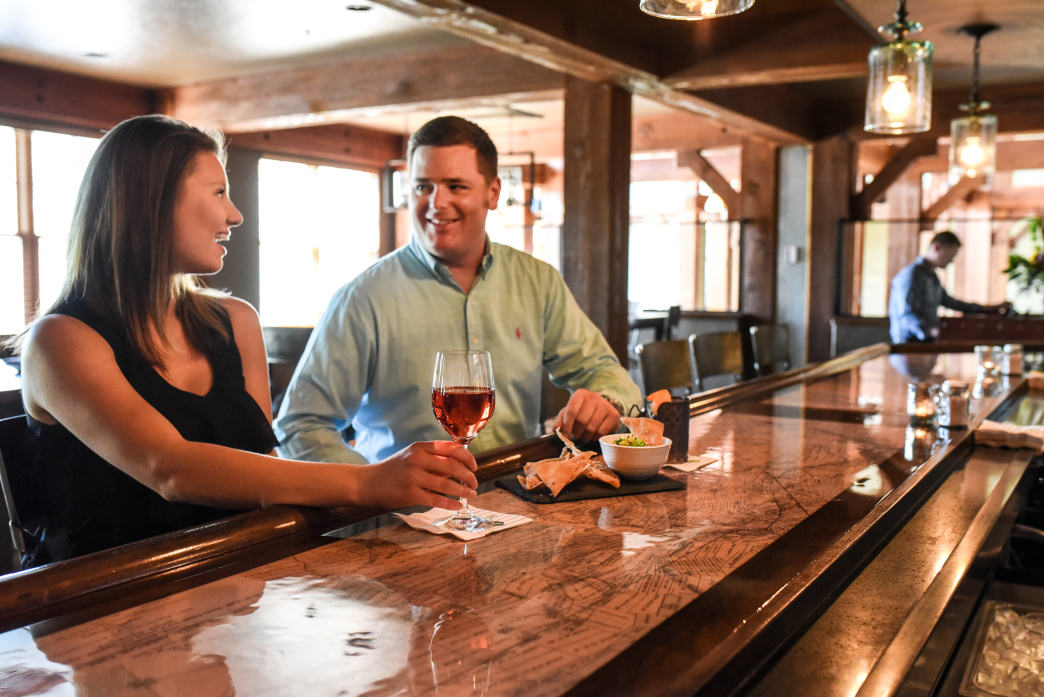 Take advantage of the many places to eat, drink, and relax at Deer Valley Resort, including The Brass Tag restaurant.