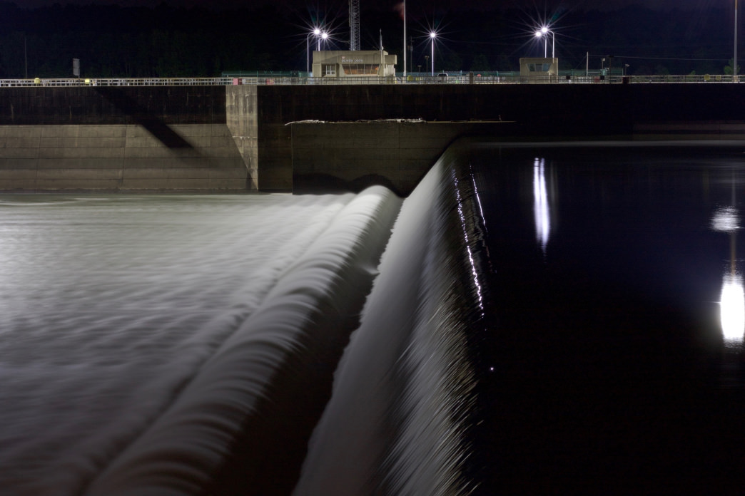 Long exposures allow flowing water to take on an ethereal quality at Oliver Lock and Dam.