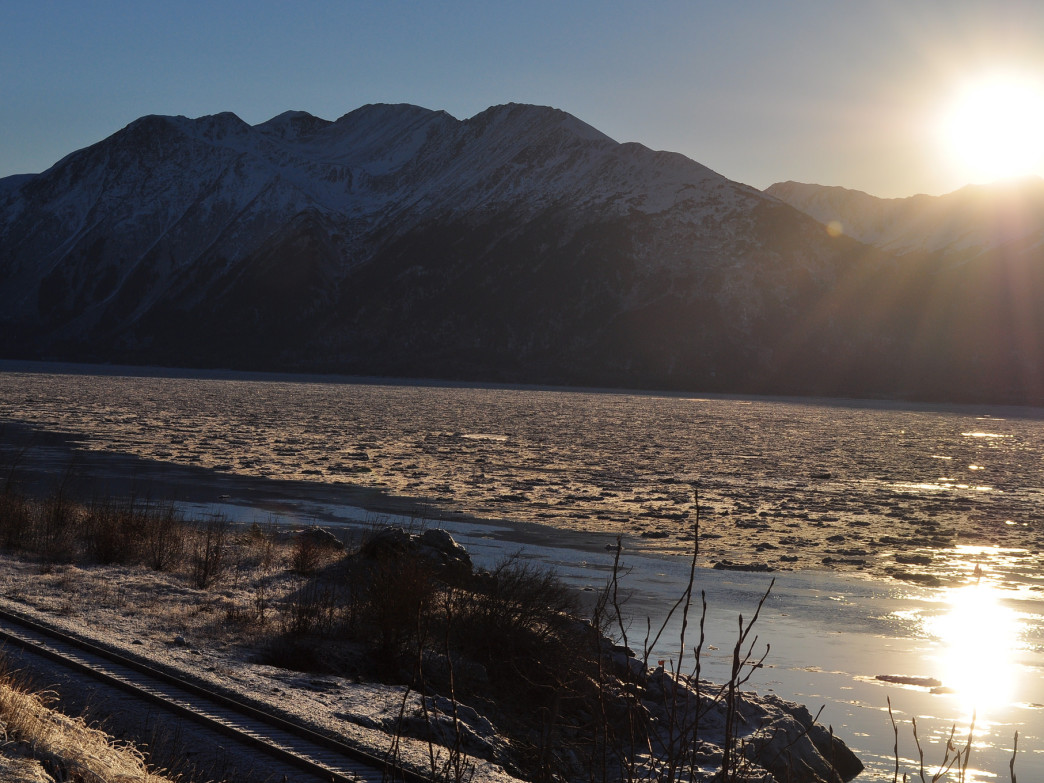 Just one of the beautiful views along the Seward Highway.