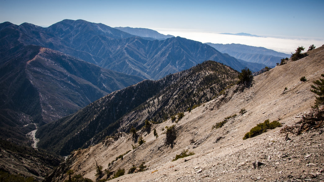 The hike approach to Mt. Baden Powell.