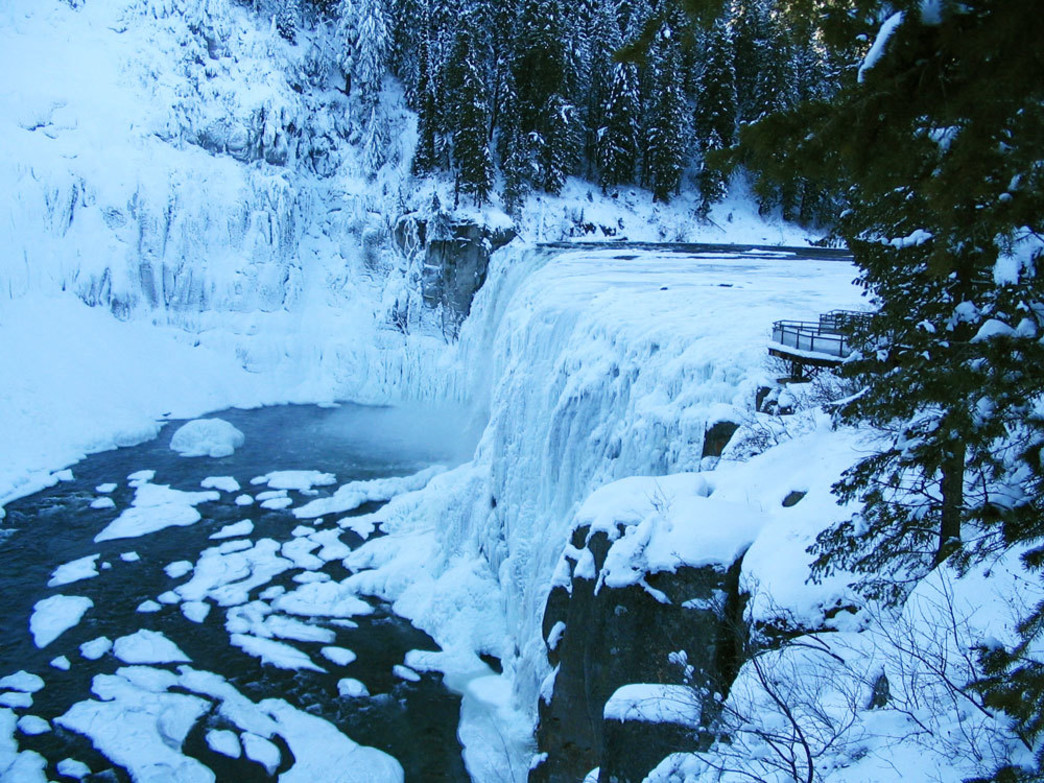 Mesa Falls in winter
