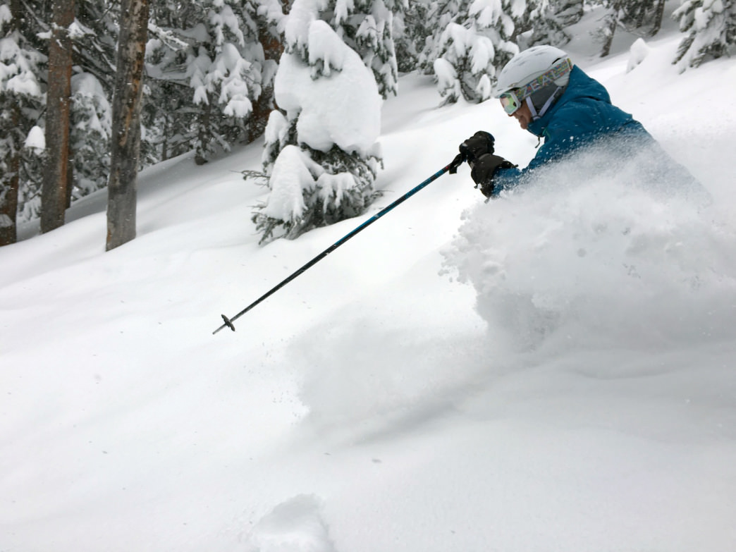 Powder and smiles go hand in hand while cat skiing in Colorado