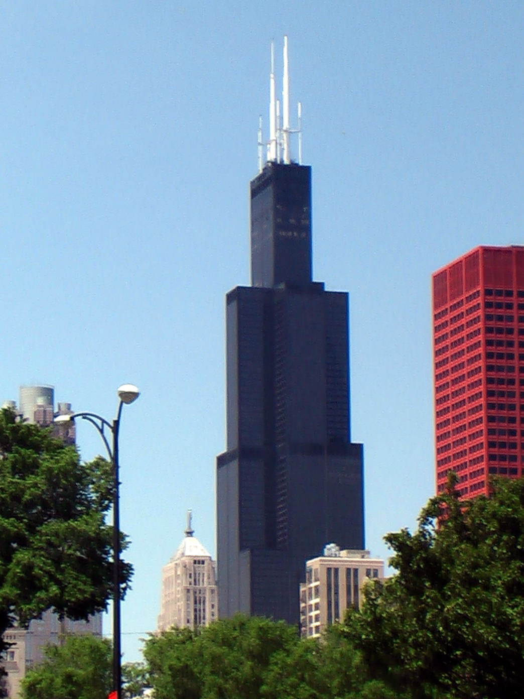 The Willis Tower, formerly known as the Sears Tower, is the highest point in Illinois.
