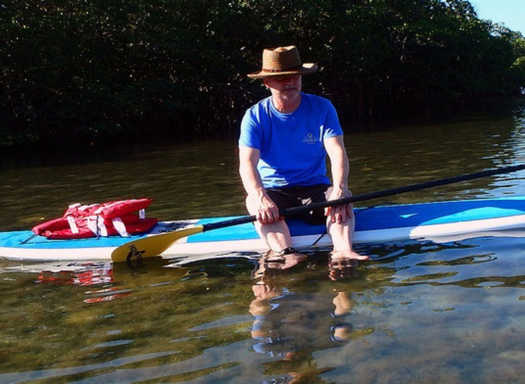 Take some time to cool off and relax when you're out for a day of stand-up-paddleboarding.