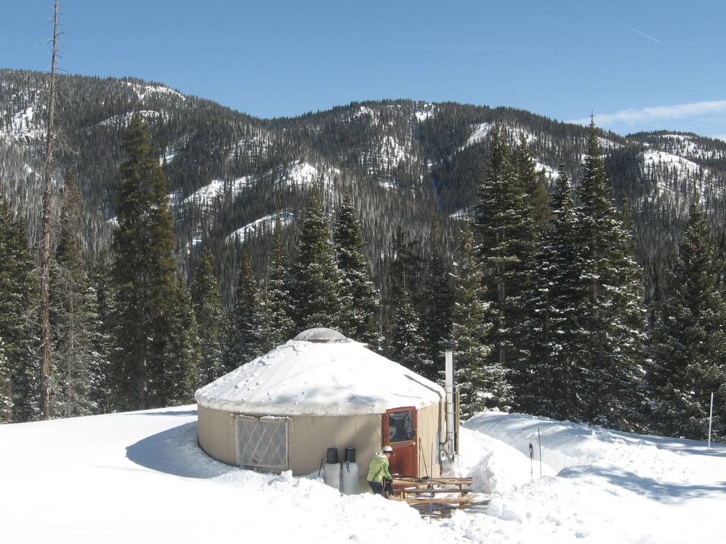 Privacy, peace, and serenity reign at the Pass Creek Yurt