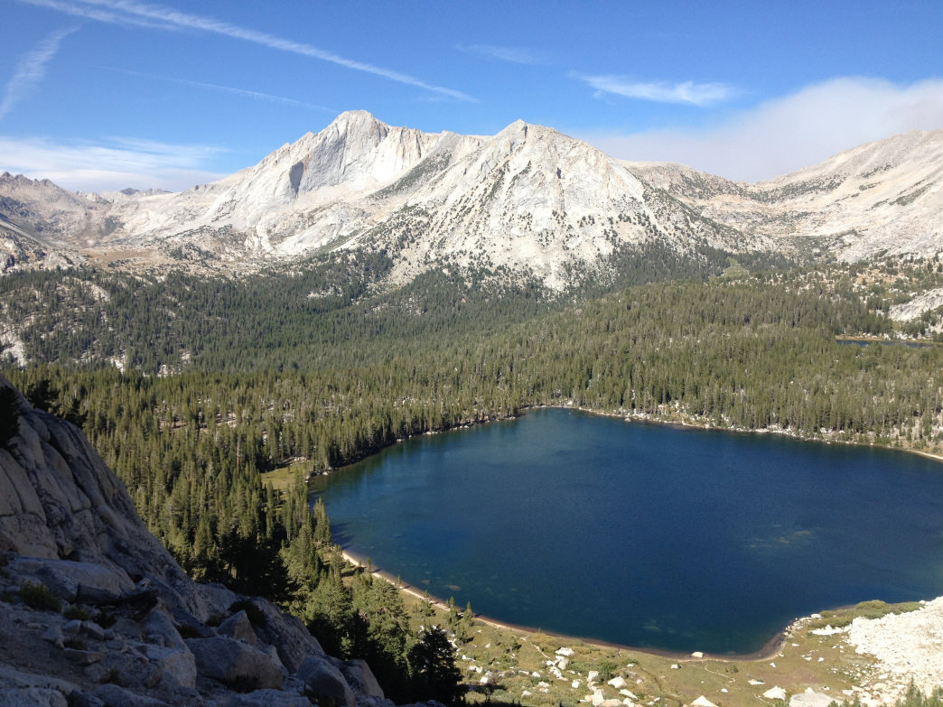 The view from above Young Lake is worth the scramble.     Charlotte Dohrn