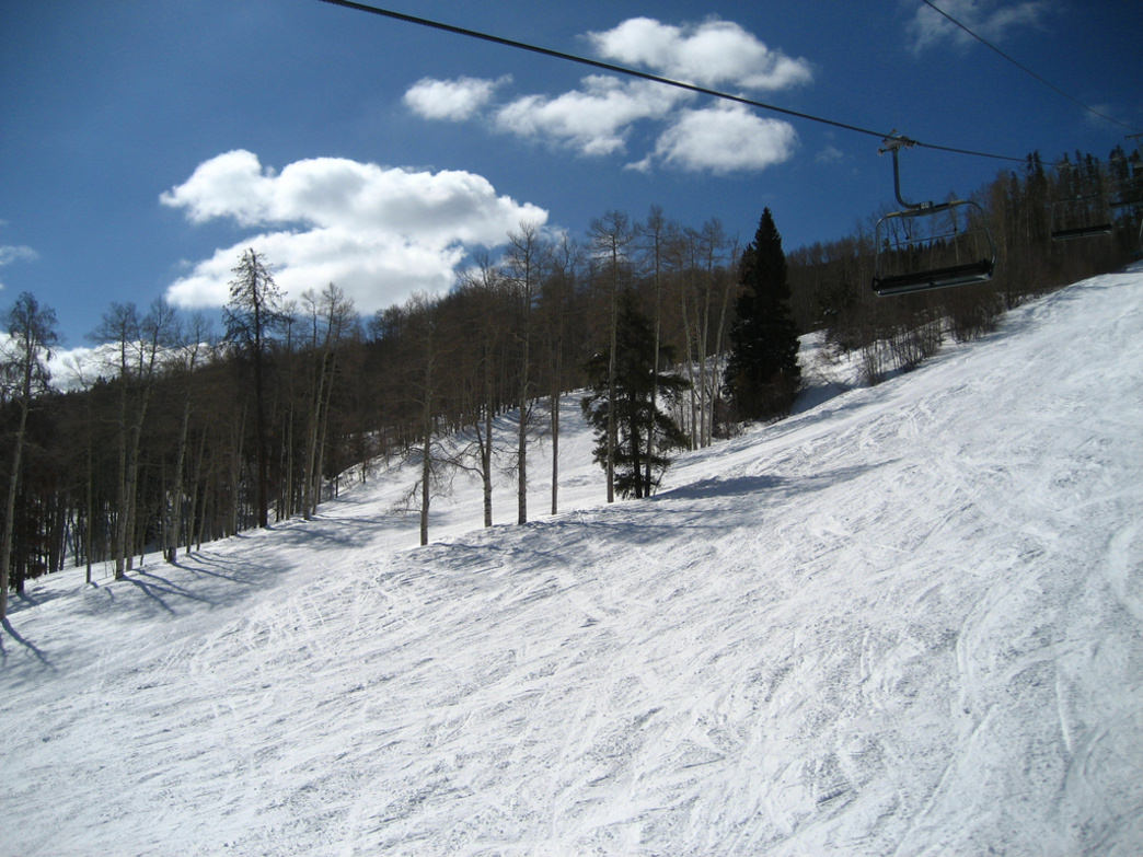 In early spring in Aspen, you may just have the slopes to yourself.