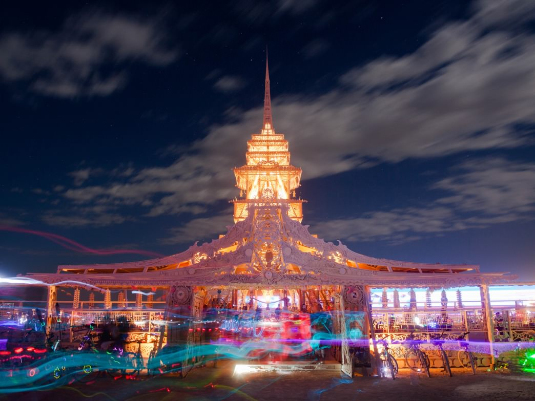 The (infamous) Temple at Burning Man.
