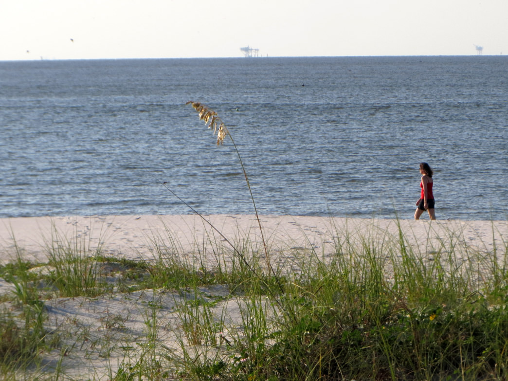 Take a 3-mile out-and-back walk along the sugary white beaches of Dauphin Island's Pelican Island.