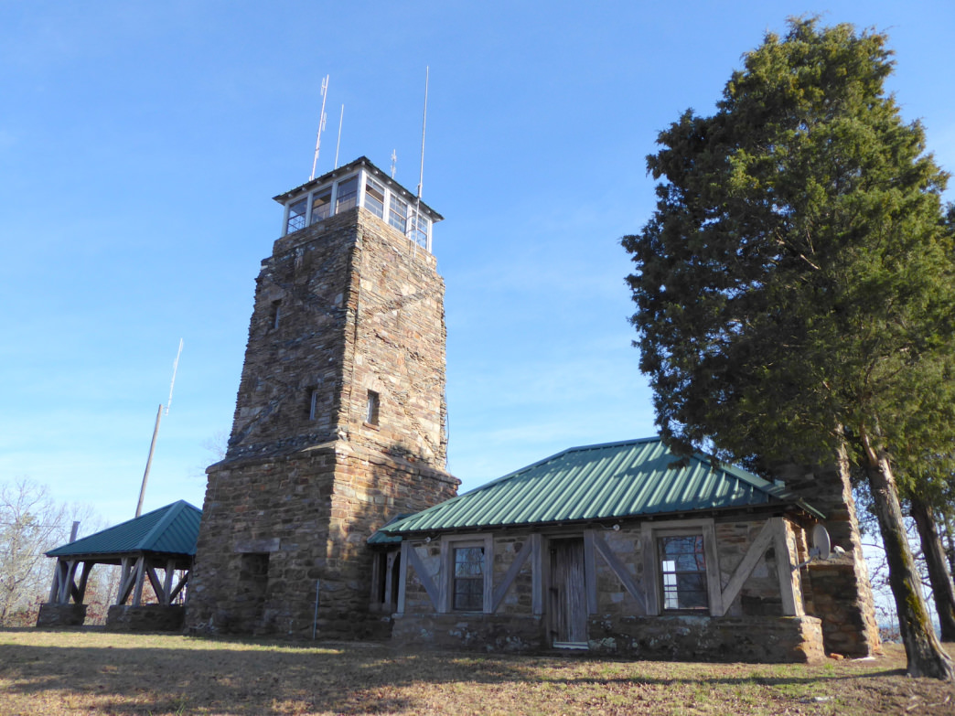 The 52-foot fire tower atop Flagg Mountain dates to the 1930s.     Marcus Woolf