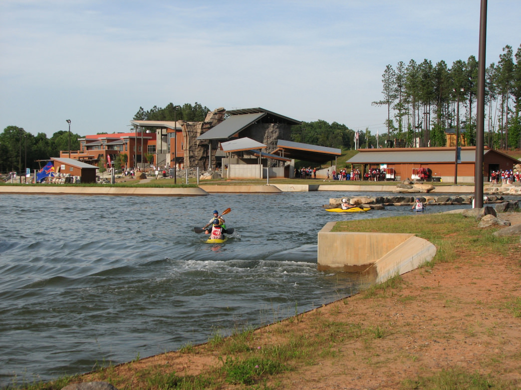 The man-made whitewater river at the USNWC is a great place to learn to paddle or show off your skills.