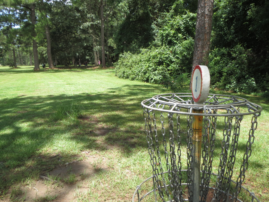 It's a nice grassy fairway into the trees that surround the first hole at the Fairways of Fairhope.     Joe Cuhaj