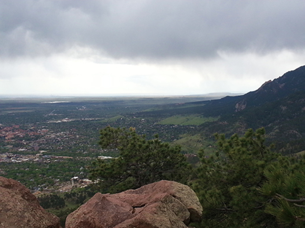 Looking south from the summit of Mount Sanitas.