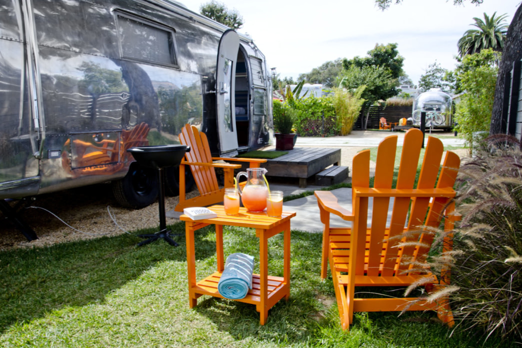 Settle into a shiny Airstream trailer at the Autocamp in Santa Barbara.